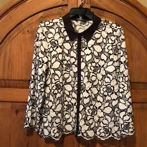 Karl Lagerfeld Paris Button-Front Blouse